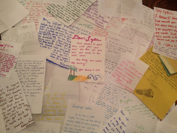 Letters from my RCC friends.